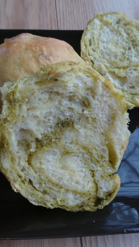 petit pain pesto