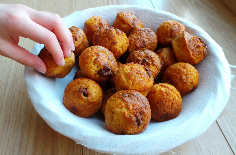 panier de mini muffins Pralinoise
