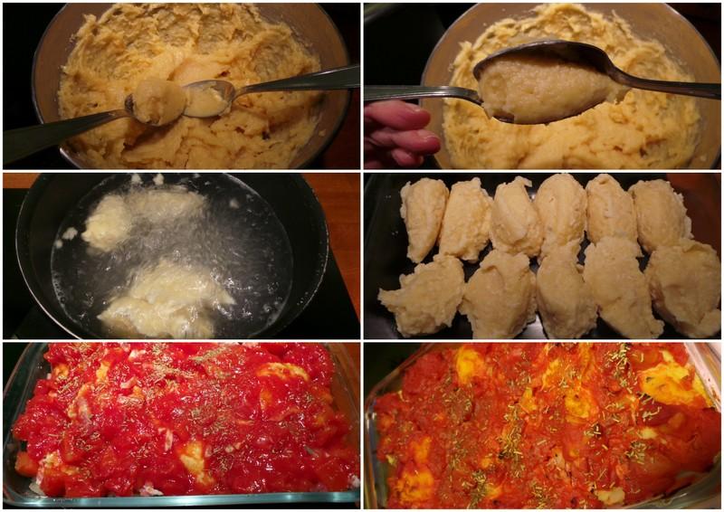 gratin de quenelles à la tomate1