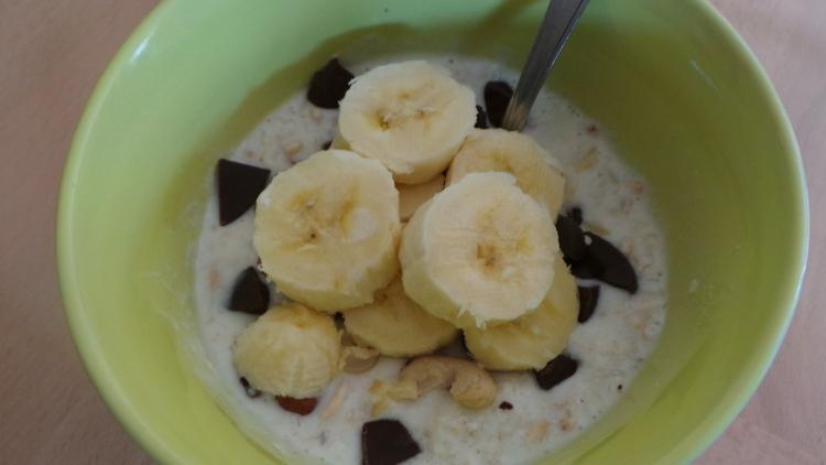 muesli banane et chocolat
