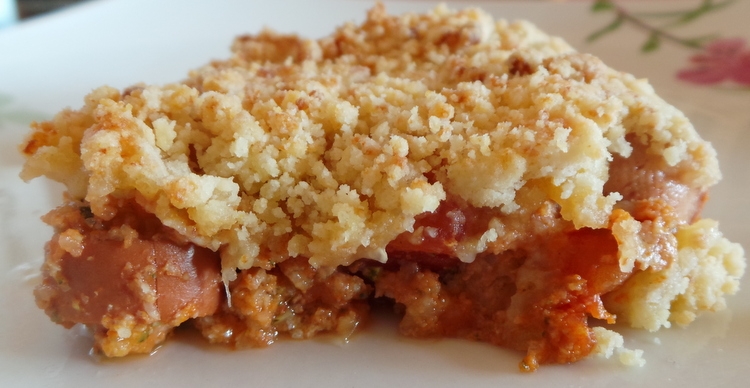 crumble tomate courgette