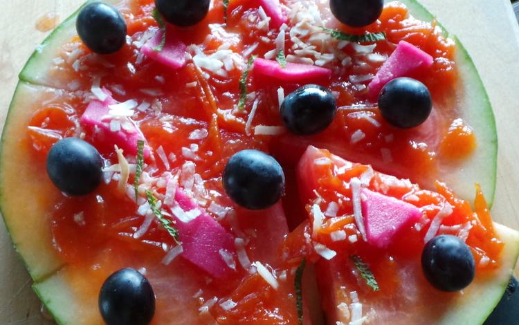 pastèque pizza
