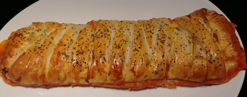tresse jambon, tomates, mozzarella