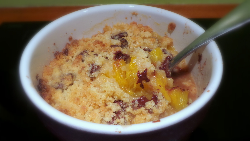 crumble orange chocolat