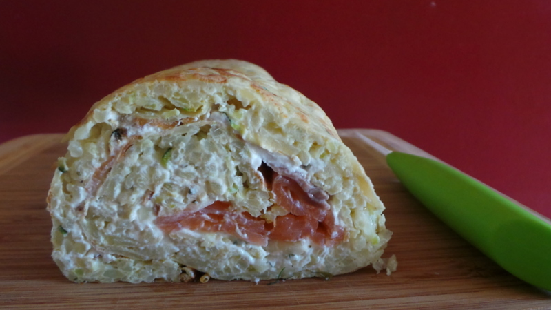 roulé pomme de terre saumon