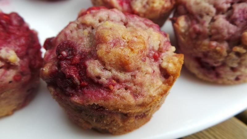 mini muffins framboises